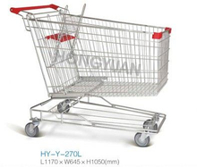 Good Quality 270L Asian Style Supermarket Trolley