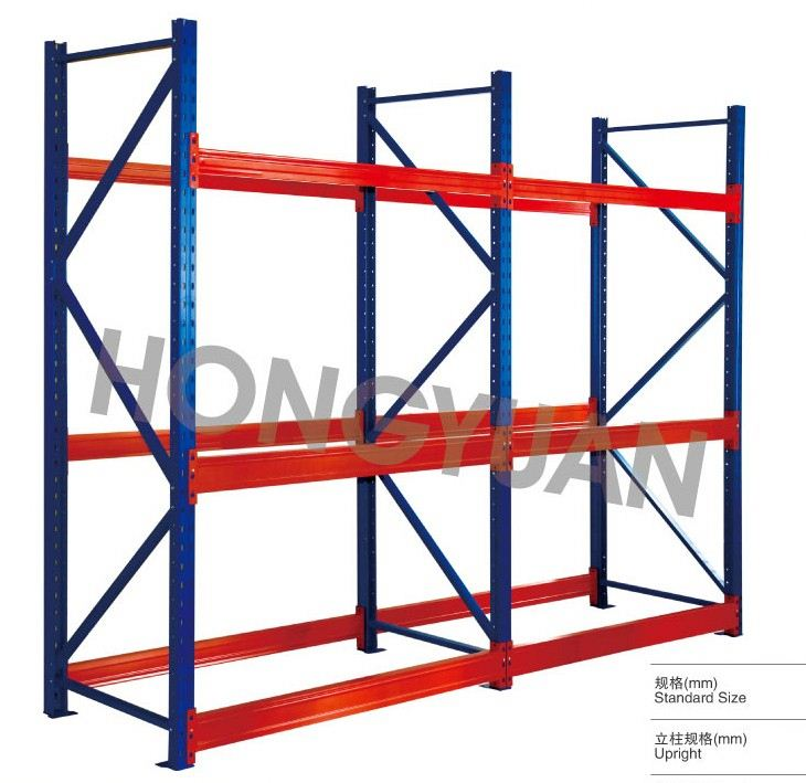 Hongyuan tailor made heavy duty warehouse rack for pallet